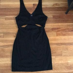 Size S black mini dress with cut outs